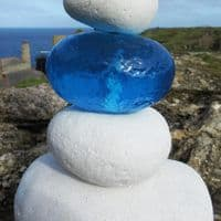 Blue Pebble Shoreline Lamp | Coastal Table Lamp